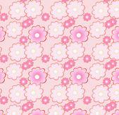 Motif floral dans les tons roses doux — Vecteur
