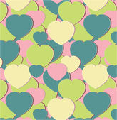 Pattern with green hearts — Stock Vector