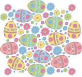 复活节彩蛋与装饰 — 图库矢量图片