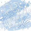 Winter flowers — Vector de stock #8769874