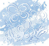 Winter flowers — Stock Vector