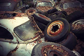 Vintage Auto Graveyard — Stock Photo
