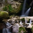 Stock Photo: Two small waterfalls