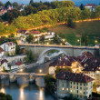 Old town of Bern with Aare River - Stock Photo