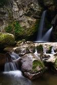 Two small waterfalls — Stock Photo