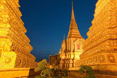 Wat Pho in Bangkok after sunset — Stock Photo