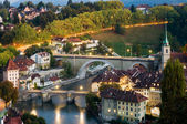 Old town of Bern with Aare River — Stock Photo