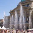 Having Fun at the fountain in front of Swiss parliament - Stock Photo