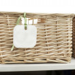 Storage basket with tag — Stock Photo #8758006