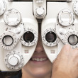 Eye test phoropter - Foto de Stock  