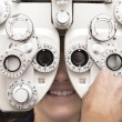 Eye test phoropter - Stock Photo