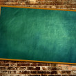 Hung on the blackboard on the wall — Stock Photo