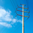 Cable telegraph pole — 图库照片