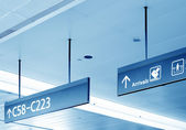 Gate sign at the airport — Stock Photo