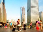 Shanghai pedestrian underpass crowd — Stock Photo
