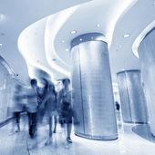 Corridor and the crowd — Stock Photo