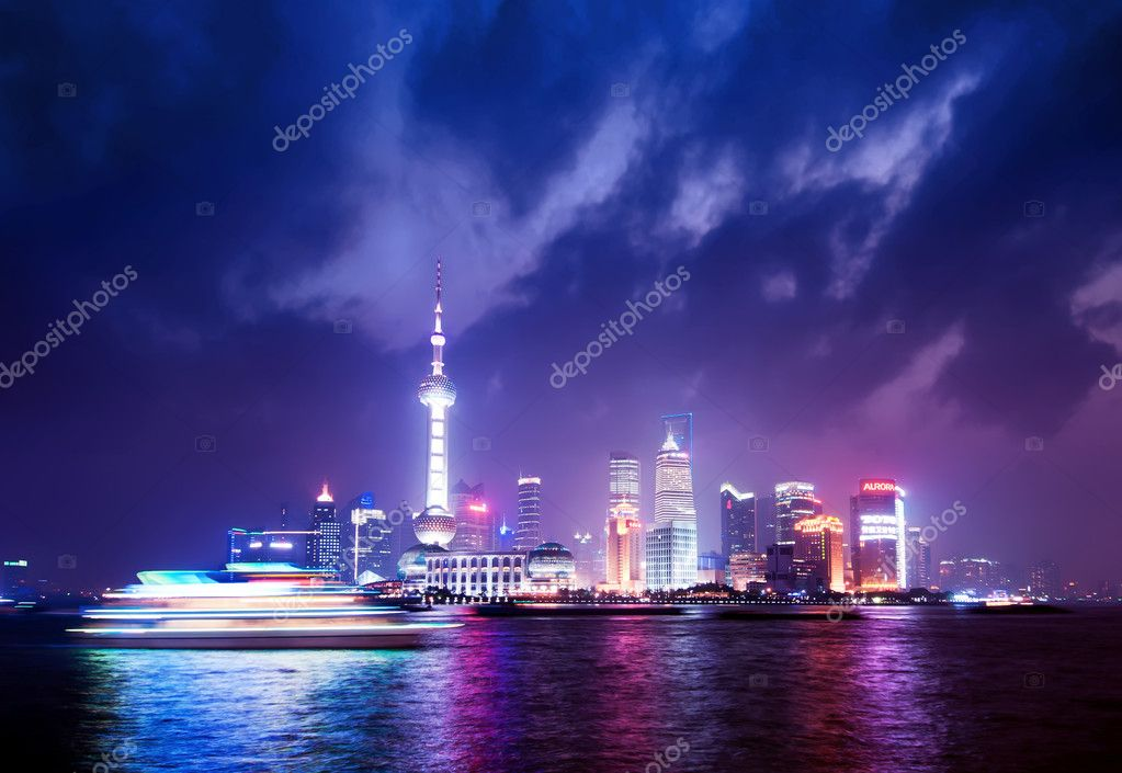 Beautiful of shanghai night scene  Stock Photo #10641769