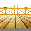 Stock Photo: Wooden flooring and guardrails