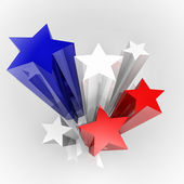 Stars with flag colours — Foto de Stock