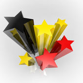 Stars with flag colours — Stock Photo