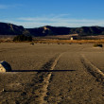 Dry salt lake - desert landscape — Stock Photo #10311757