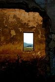 Fábrica abandonada - quarto com janelas — Foto Stock