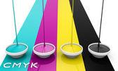 CMYK liquid inks — Stock Photo