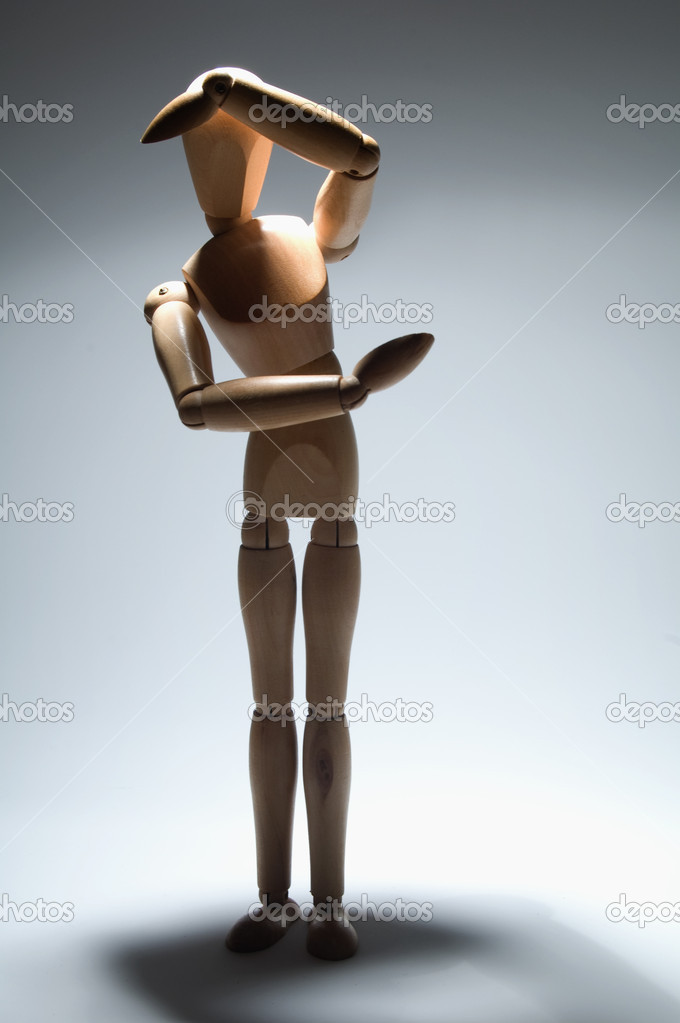 Scared manikin, violence metaphore — Stock Photo #10371549