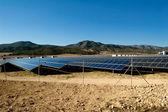 Solar power plant - Solar panels — Stock Photo