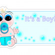 New Birth Label - Baby Boy — Stock Vector #10623455