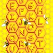 Royalty-Free Stock Vector Image: Bees alphabet