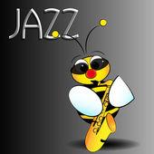 Jazz bee - Kid Illustration — Stock Vector