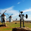 Don Quixote and Sancho Panza statue — Stock Photo #8784702