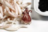 Squid and caviar — Stock Photo