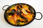 Spanish rice: paella — Stock Photo