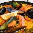 Spanish rice: paella - Stock Photo