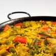 Vegetarian Paella - Spanish rice — Stock Photo
