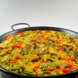 Vegetarian Paella - Spanish rice - Stock Photo