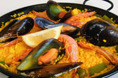 Spanish rice: paella — Stock Photo