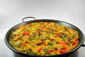 Paella vegetariana - riso spagnolo — Foto Stock