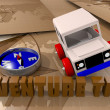 Offroad car toy — Stock Photo