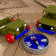Foto Stock: Offroad cars toy