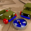 Stock Photo: Offroad cars toy