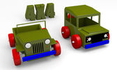 Offroad cars toy — Stock Photo