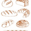 Vector Collection of breads - Stock Vector