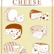 Постер, плакат: Vector clipart collection of cheese