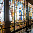 Stained glass window in Chapultepec castle, Mexico city — Stock Photo #10065335