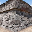 Stock Photo: Temple of Feathered Serpent in Xochicalco Mexico