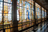 Stained glass window in Chapultepec castle, Mexico city — Stock Photo