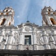 Stock Photo: Jesuit church of LCompañia, Puebl(Mexico)